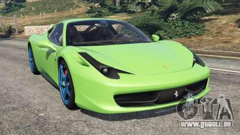 Ferrari 458 Italia 2009 v1.6 pour GTA 5