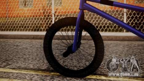 Nueva BMX für GTA San Andreas zurück linke Ansicht