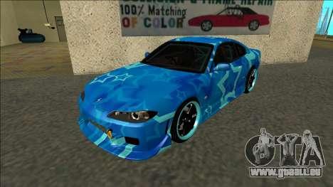 Nissan Silvia S15 Drift Blue Star pour GTA San Andreas