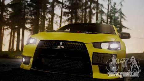 Mitsubishi Lancer Evolution X 2015 Final Edition pour GTA San Andreas