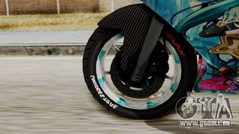 Bati Motorcycle Hatsune Miku Itasha pour GTA San Andreas sur la vue arrière gauche