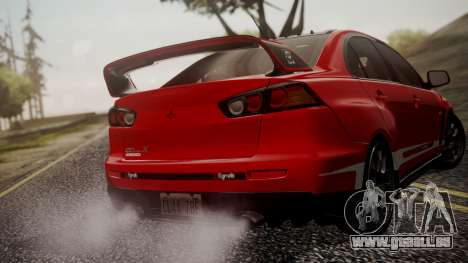 Mitsubishi Lancer Evolution X 2015 Final Edition pour GTA San Andreas roue