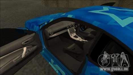 Nissan Silvia S15 Drift Blue Star pour GTA San Andreas vue de droite