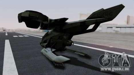 Hornet Halo 3 pour GTA San Andreas sur la vue arrière gauche