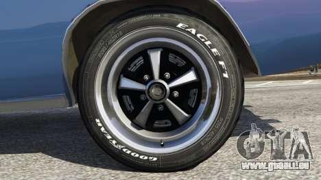 GTA 5 Dodge Charger RT 1970 v3.0 Rückansicht