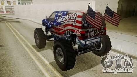 GTA 5 Vapid The Liberator pour GTA San Andreas vue de côté