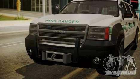 GTA 5 Declasse Granger Park Ranger IVF für GTA San Andreas Seitenansicht