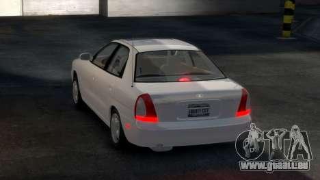 Daewoo Nubira I Sedan SX USA 1999 pour GTA 4 est un droit