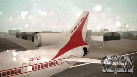 Lockheed L-1011 Air India für GTA San Andreas zurück linke Ansicht