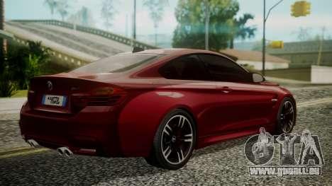 BMW M4 Coupe 2015 Walnut Wood für GTA San Andreas linke Ansicht