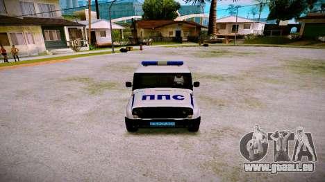 UAZ-chasseur Service PPP pour GTA San Andreas vue intérieure
