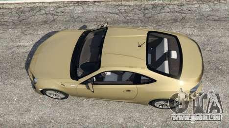 GTA 5 Toyota GT-86 v1.4 Rückansicht