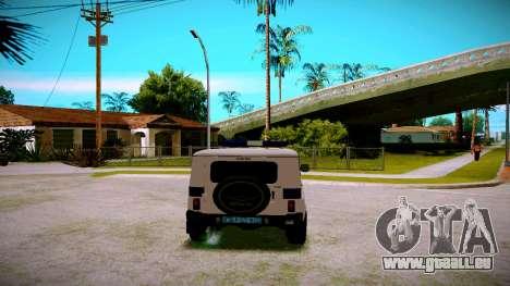 UAZ-chasseur Service PPP pour GTA San Andreas vue de droite