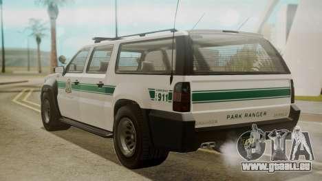 GTA 5 Declasse Granger Park Ranger pour GTA San Andreas laissé vue