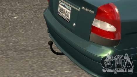 Daewoo Nubira II Sedan SX USA 2000 pour GTA 4 est une vue de dessous