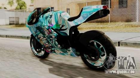 Bati Motorcycle Hatsune Miku Itasha für GTA San Andreas linke Ansicht