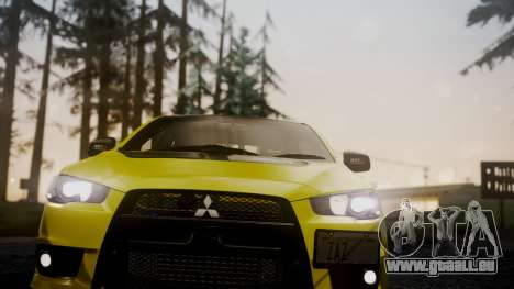 Mitsubishi Lancer Evolution X 2015 Final Edition für GTA San Andreas