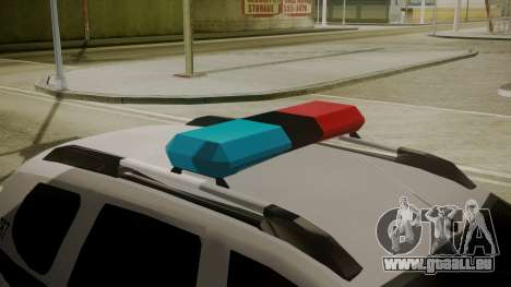 Renault Duster Patrulla Policia Colombiana pour GTA San Andreas vue arrière