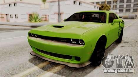 Dodge Challenger SRT Hellcat 2015 IVF PJ pour GTA San Andreas roue