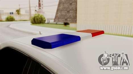 Mercedes-Benz E500 Innenministeriums Verkehrspol für GTA San Andreas Innenansicht