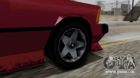 Sentinel XL from Vice City Stories pour GTA San Andreas sur la vue arrière gauche