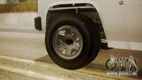 GTA 5 Declasse Rancher XL Police pour GTA San Andreas sur la vue arrière gauche