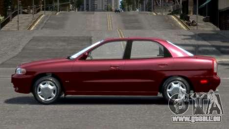 Daewoo Nubira I Sedan SX USA 1999 pour GTA 4 est une gauche