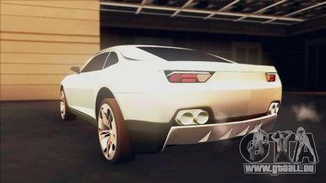 Chevrolet Camaro DOSH Tuning v0.1 Beta pour GTA San Andreas laissé vue