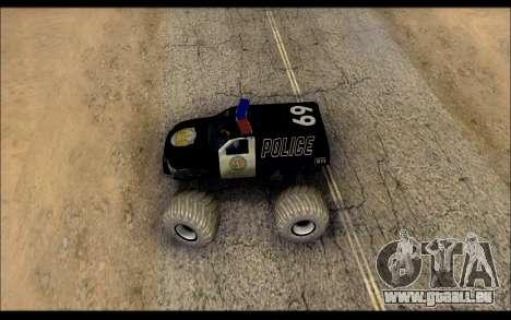 The Police Monster Trucks pour GTA San Andreas vue de droite