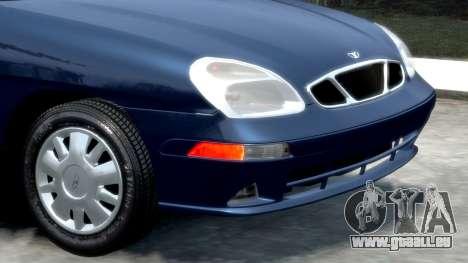 Daewoo Nubira II Sedan SX USA 2000 pour GTA 4 est une vue de l'intérieur