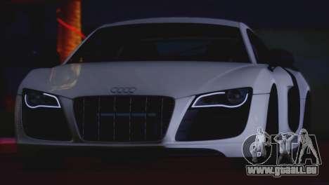Audi R8 GT 2012 Sport Tuning V 1.0 für GTA San Andreas Rückansicht