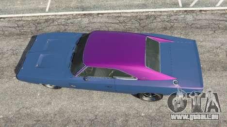 GTA 5 Dodge Charger RT 1970 v3.0 hinten links Seitenansicht