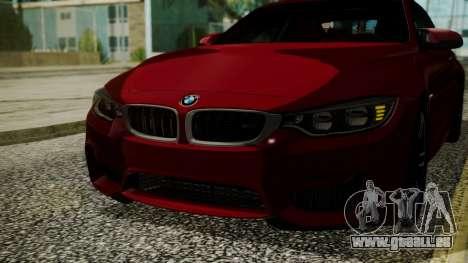 BMW M4 Coupe 2015 Walnut Wood für GTA San Andreas Seitenansicht
