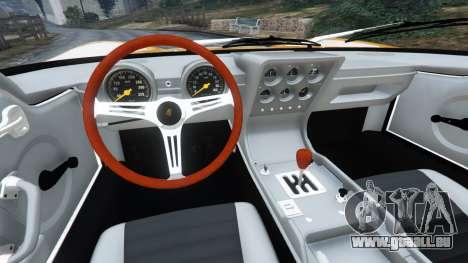 GTA 5 Lamborghini Miura P400 1967 arrière droit vue de côté