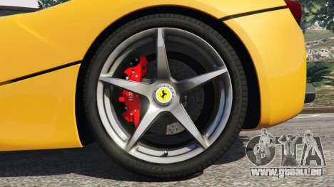 GTA 5 Ferrari LaFerrari 2013 v3.0 arrière droit vue de côté