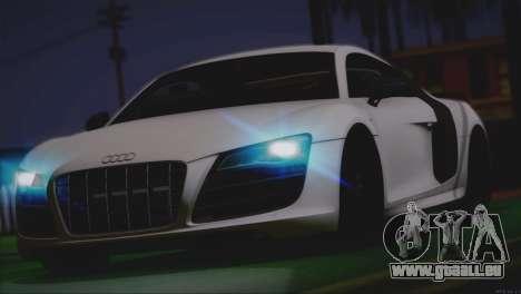 Audi R8 GT 2012 Sport Tuning V 1.0 für GTA San Andreas Innen