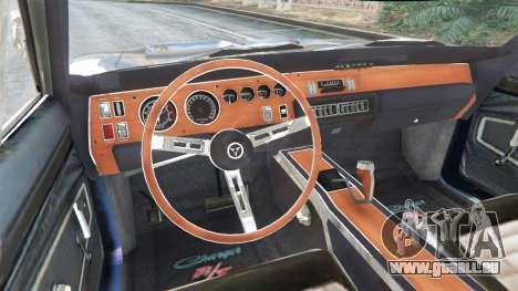 GTA 5 Dodge Charger RT 1970 v3.0 hinten rechts