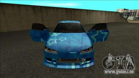 Nissan Silvia S15 Drift Blue Star pour GTA San Andreas vue intérieure