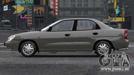Daewoo Nubira II Sedan S PL 2000 pour GTA 4 est un côté