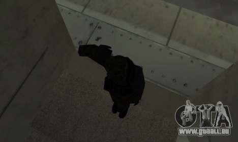 Militaire de salut pour GTA San Andreas troisième écran