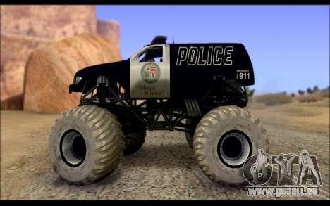 The Police Monster Trucks pour GTA San Andreas laissé vue