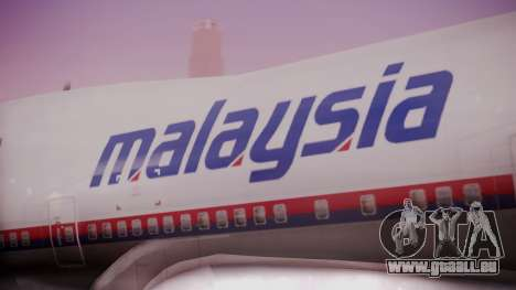 Boeing 747-200 Malaysia Airlines pour GTA San Andreas vue arrière