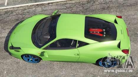 GTA 5 Ferrari 458 Italia 2009 v1.6 vue arrière