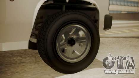 GTA 5 Declasse Rancher XL Police IVF pour GTA San Andreas sur la vue arrière gauche
