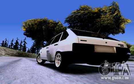 VAZ 2109 Turbo pour GTA San Andreas vue arrière