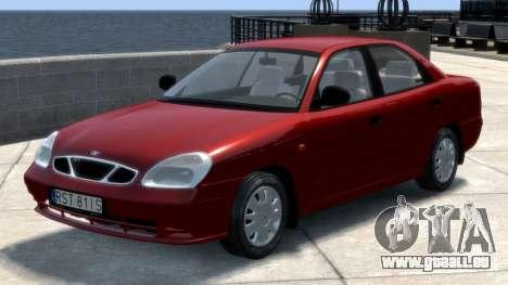 Daewoo Nubira II Sedan S PL 2000 pour GTA 4 est une gauche