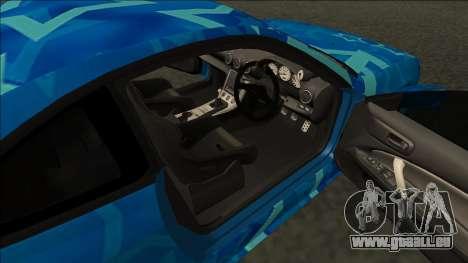 Nissan Silvia S15 Drift Blue Star pour GTA San Andreas sur la vue arrière gauche