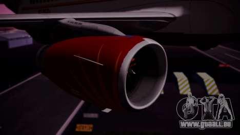 Airbus A319-100 Air India für GTA San Andreas rechten Ansicht