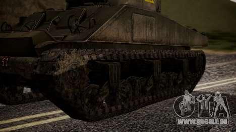 Sherman MK VC Firefly pour GTA San Andreas sur la vue arrière gauche