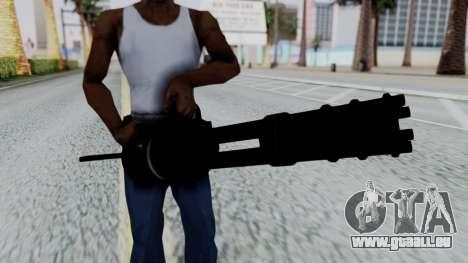 M134 Minigun pour GTA San Andreas troisième écran